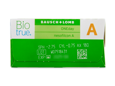 Biotrue ONEday for Astigmatism (30 lentillas) - Previsualización de atributos