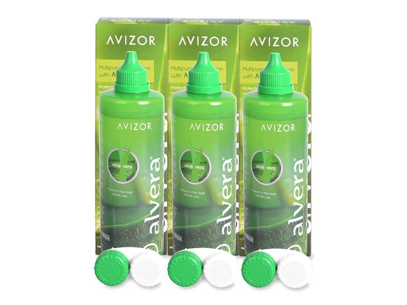 Líquido Alvera 3 x 350 ml  - Pack ahorro - solución triple