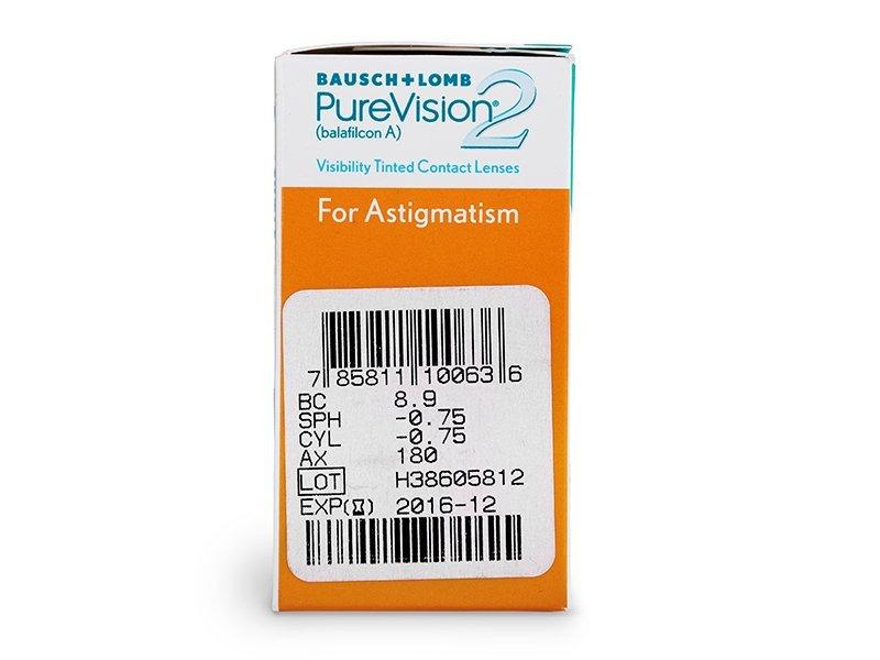 PureVision 2 for Astigmatism (6lentillas) - Previsualización de atributos
