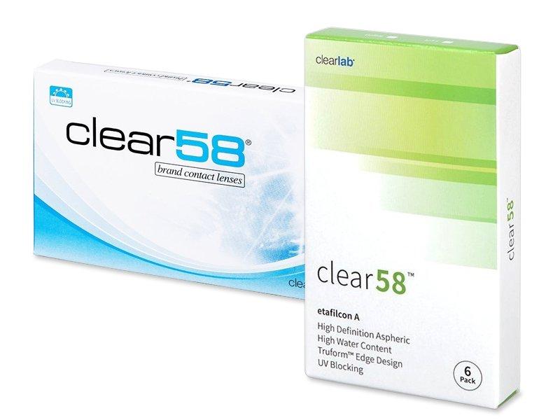 Clear 58 (6lentillas) - Lentillas quincenales