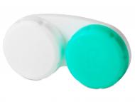 Estuche de lentes de contacto - Estuche blanco-verde