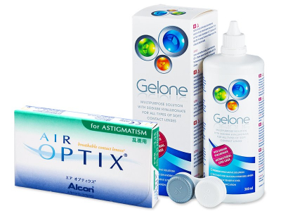 Air Optix for Astigmatism (6 Lentillas) + Liquido Gelone 360 ml - Diseño antiguo