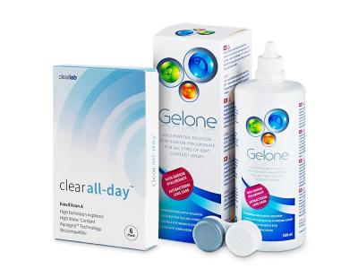 Clear All-Day (6Lentillas) +Líquido Gelone360 ml - Pack ahorro