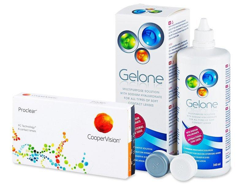 Proclear Sphere (6 Lentillas) +LiquidoGelone360 ml - Pack ahorro