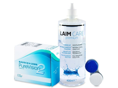 PureVision 2 (6 lentillas) + Líquido Laim-Care 400 ml