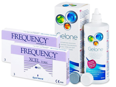 Frequency Xcel Toric XR (2x3 Lentillas) +Gelone360ml