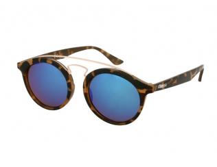Gafas de sol - Gafas de sol para niños Alensa Panto Havana Blue Mirror