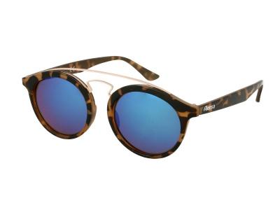 Gafas de sol para niños Alensa Panto Havana Blue Mirror