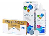 Pack lentillas + Gelone - Frequency 55 Aspheric (6 Lentillas) +LiquidoGelone360 ml