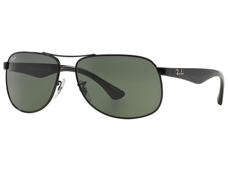 03597babe6 Ray-Ban aviators negras con lentes verdes | Lentes-de-contacto.es