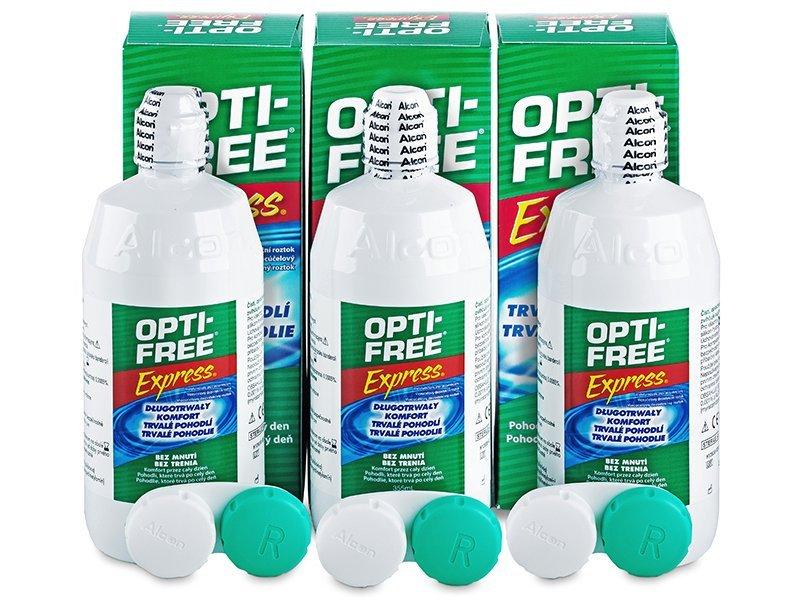 bc15a40b74ee3 Líquido OPTI-FREE Express 3 x 355 ml - Pack ahorro - solución triple