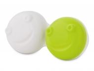 Estuche de lentillas con espejo - Estuche para limpiador de lentillas vibratorio - verde