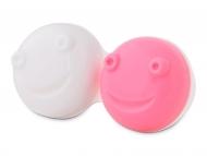 Estuche de lentillas con espejo - Estuche para limpiador de lentillas vibratorio - rosa