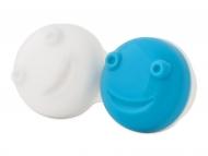 Estuche de lentillas con espejo - Estuche para limpiador de lentillas vibratorio -  azul