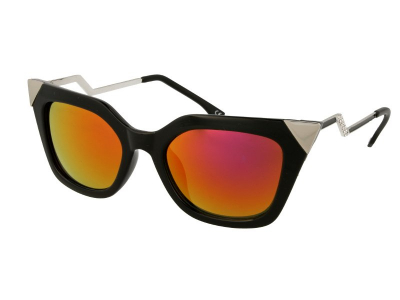 Gafas de sol Alensa Cat Eye Shiny Black Mirror