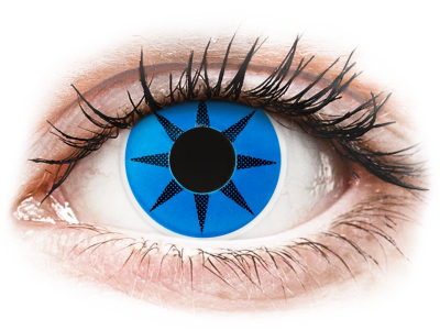 ColourVUE Crazy Lens - Blue Star - Sin graduar (2 lentillas)