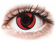 Lentillas de color rojo - sin graduación - ColourVUE Crazy Lens - Mangekyu - Sin graduar (2 lentillas)