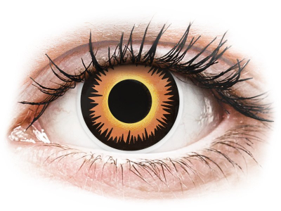 ColourVUE Crazy Lens - Orange Werewolf - Sin graduar (2 lentillas)