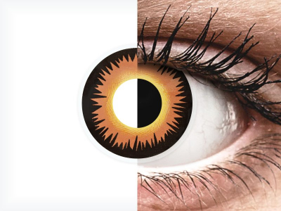 ColourVUE Crazy Lens - Orange Werewolf - Sin graduar (2 lentillas)