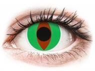 Lentillas de color verde - sin graduación - ColourVUE Crazy Lens - Raptor - Sin graduar (2 lentillas)