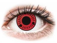 Lentillas de color rojo - sin graduación - ColourVUE Crazy Lens - Sasuke - Sin graduar (2 lentillas)