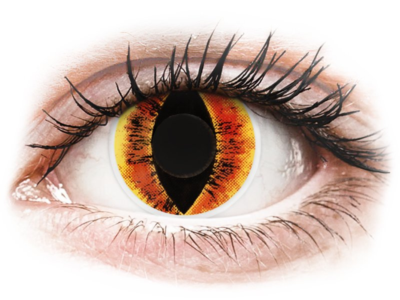 ColourVUE Crazy Lens - Saurons Eye - Sin graduar (2 lentillas)