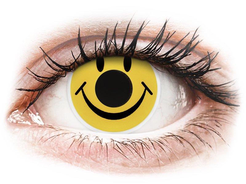 ColourVUE Crazy Lens - Smiley - Sin graduar (2 lentillas) - Lentillas de colores