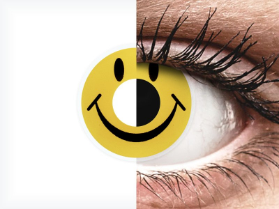 ColourVUE Crazy Lens - Smiley - Sin graduar (2 lentillas)