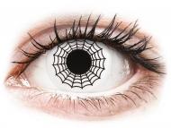 Lentillas de color blanco - sin graduación - ColourVUE Crazy Lens - Spider - Sin graduar (2 lentillas)