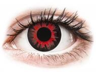 Lentillas de color rojo - sin graduación - ColourVUE Crazy Lens - Volturi - Sin graduar (2 lentillas)