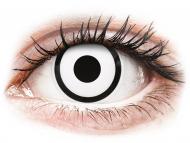 Lentillas de color blanco - sin graduación - ColourVUE Crazy Lens - White Zombie - Sin graduar (2 lentillas)