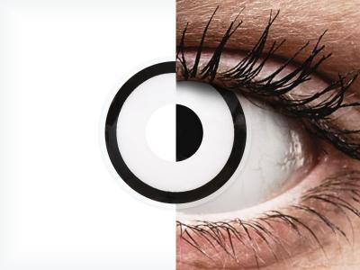 ColourVUE Crazy Lens - White Zombie - Sin graduar (2 lentillas)