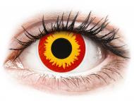 Lentillas de color rojo - sin graduación - ColourVUE Crazy Lens - Wildfire - Sin graduar (2 lentillas)