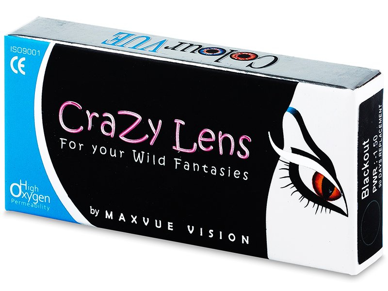 ColourVUE Crazy Lens - BlackOut - Graduadas (2 lentillas) - ColourVUE Crazy Lens - BlackOut - Graduadas (2 lentillas)
