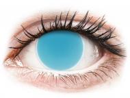 Lentillas Maxvue Vision - ColourVUE Crazy Glow Azul Eléctrico - Sin graduar (2lentillas)