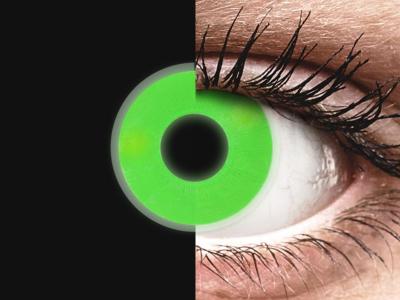 ColourVUE Crazy Glow Verde - Sin graduar (2lentillas)