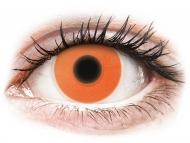Lentillas Maxvue Vision - ColourVUE Crazy Glow Naranja- Sin graduar (2lentillas)