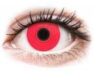 Lentillas Maxvue Vision - ColourVUE Crazy Glow Rojo - Sin graduar (2lentillas)