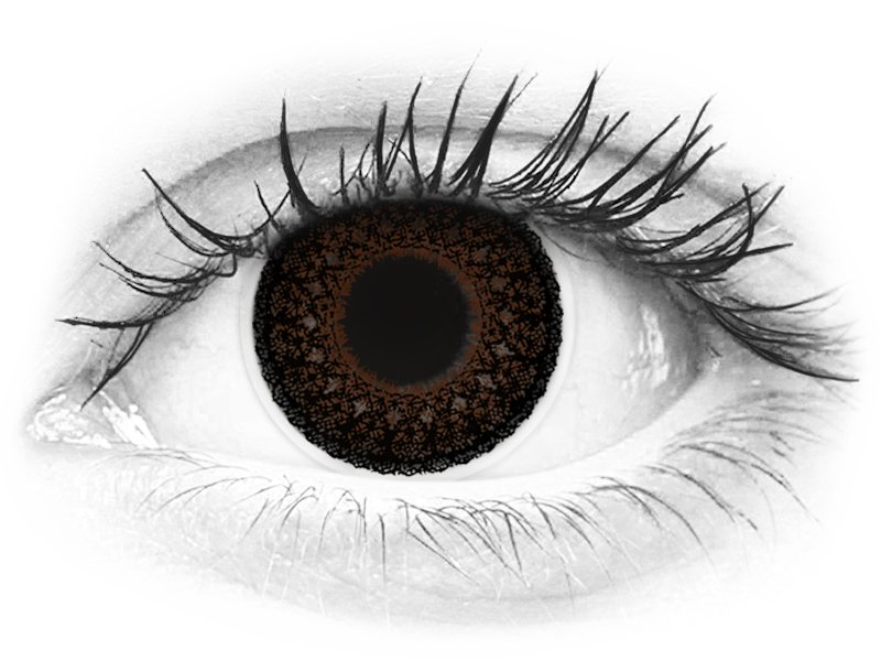 ColourVUE Eyelush Choco - Graduadas (2 lentillas)