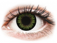 Lentillas Maxvue Vision - ColourVUE BigEyes Party Green - Sin graduar (2 lentillas)