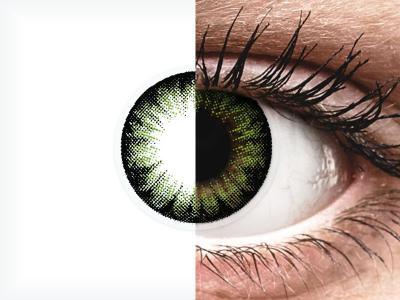 ColourVUE BigEyes Party Green - Sin graduar (2lentillas)