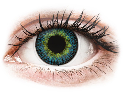 ColourVUE Fusion Yellow Blue - Sin graduar (2 lentillas)