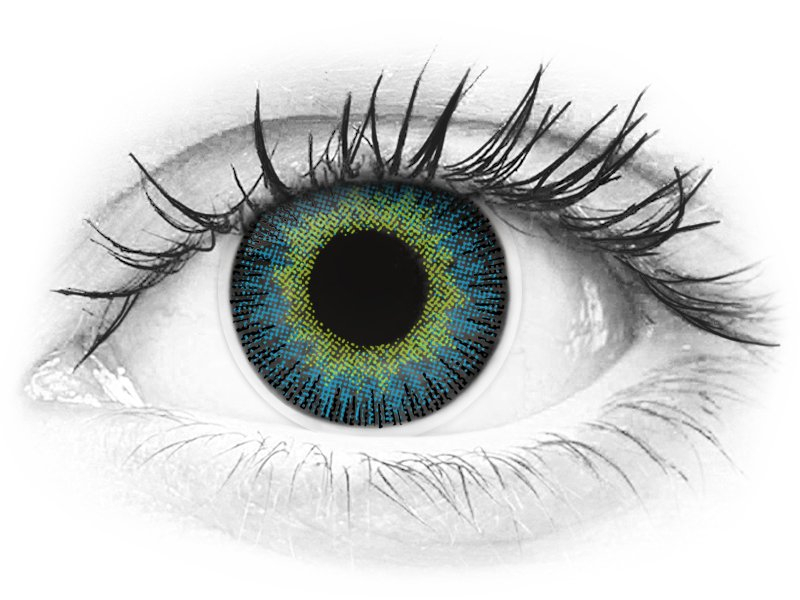 ColourVUE Fusion Yellow Blue - Sin graduar (2lentillas)