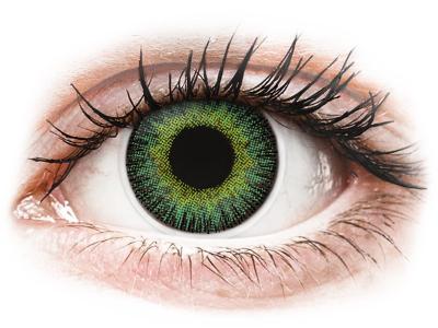 ColourVUE Fusion Green Yellow - Sin graduar (2lentillas)
