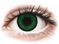 Lentillas de color verde - sin graduación - SofLens Natural Colors Aquamarine - Sin graduar (2 lentillas)