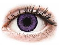 Lentillas de color púrpura - sin graduación - SofLens Natural Colors Indigo - Sin graduar (2 lentillas)