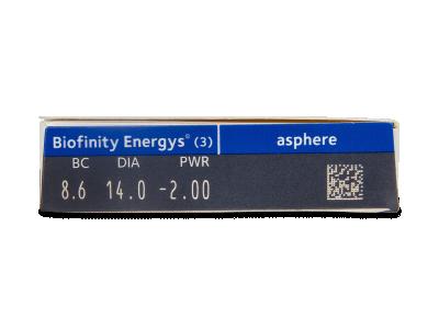Biofinity Energys (3 lentillas) - Previsualización de atributos