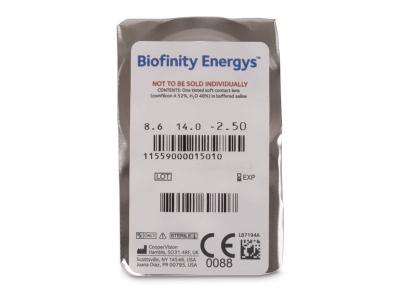 Biofinity Energys (3 lentillas) - Previsualización del blister