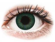 Lentillas de color verde - con graduación - FreshLook Dimensions Carribean Aqua - Graduadas (6 lentillas)