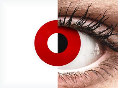 ColourVUE Crazy Lens - Red Devil - Diarias sin graduar (2 lentillas)